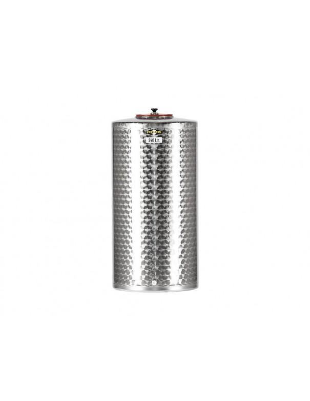 CUVE INOX 100 L FOND PLAT
