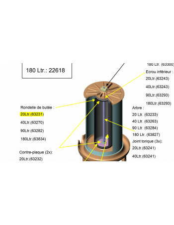Rondelle de butée hydropress 20L Speidel