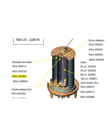 Rondelle de butée hydropress 90L Speidel