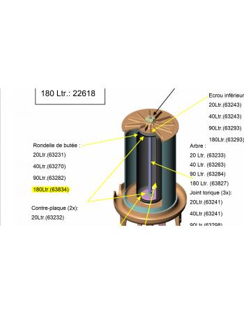 Rondelle de butée hydropress 180L Speidel