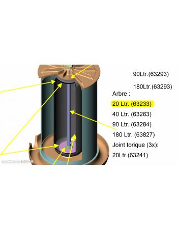 Arbre central Hydropress 20L Speidel