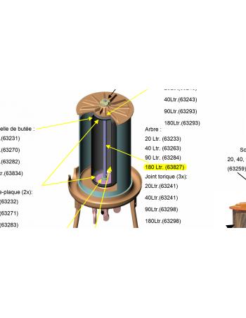 Arbre central Hydropress 180L Speidel