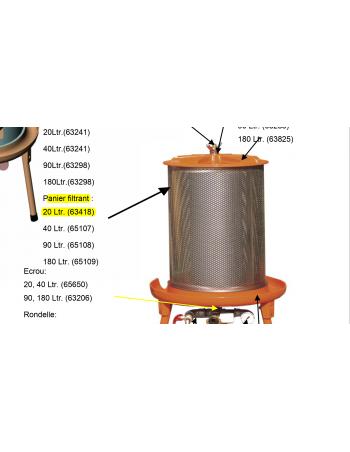 Panier filtrant hydropress 20l Speidel