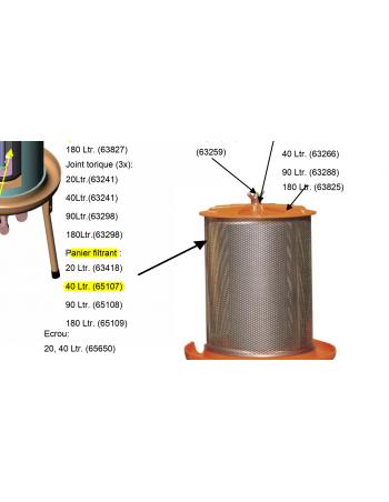 Panier filtrant hydropress 40l Speidel