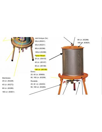 Panier filtrant hydropress 180l Speidel