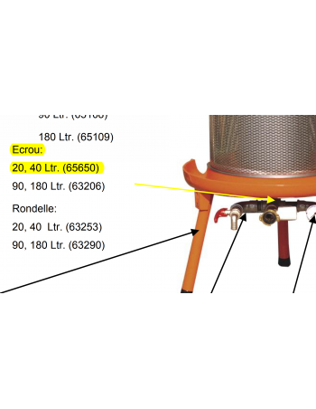 Ecrou socle Hydropress 20/40L Speidel