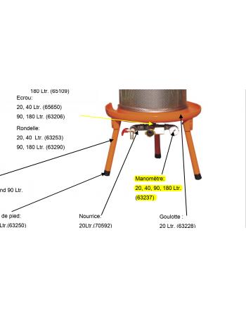 Manomètre Hydropress 20/40/90/180L Speidel